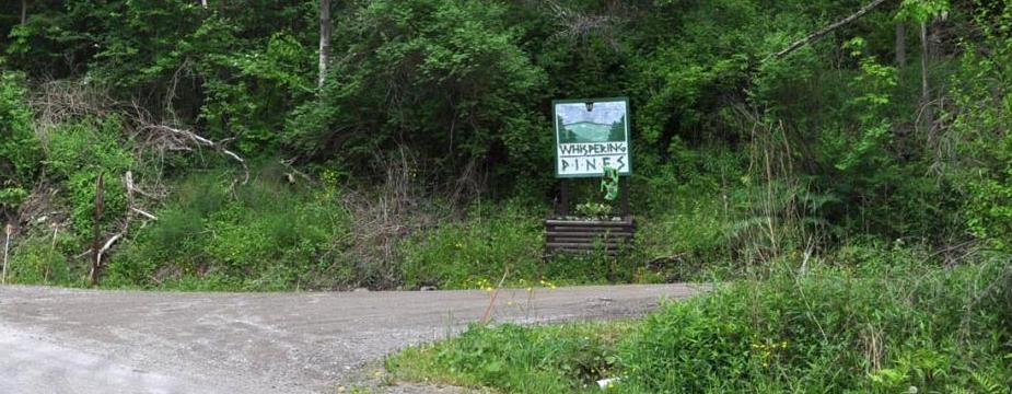Entrance to Whispering Pines